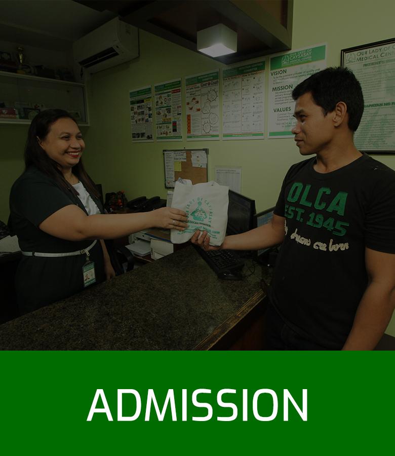 OLCMC Facilities - Admission